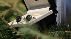 Detail dolly shot of groom cufflinks in the wedding day Stock Footage