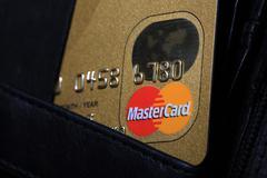 Mastercard Credit Card Stock Photos