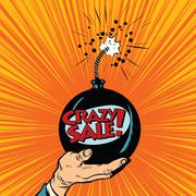 News bomb crazy sale - stock illustration