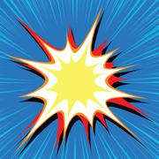 Comic book explosion bubble dynamic - stock illustration