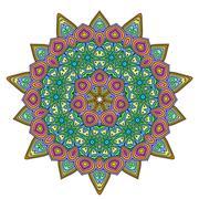 Mandala. Vintage decorative elements. - stock illustration