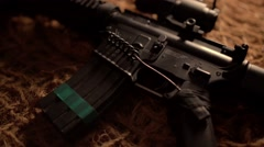 Rifle M16 - stock footage