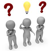 Thought Characters Represents Think About It And Complication 3d Rendering - stock illustration