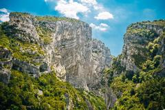 Beautiful Landscape Of The Gorges Du Verdon In South-eastern Fra Stock Photos