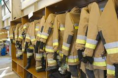 Fire fighter clothes Stock Photos