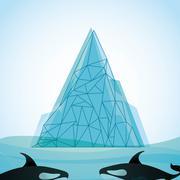 iceberg glacier  design - stock illustration