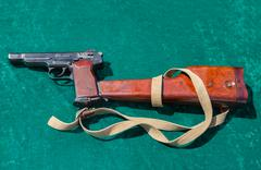 The Stechkin automatic pistol or APS Stock Photos