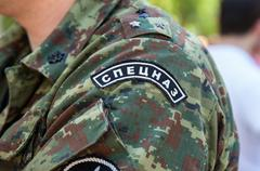 Chevron on the sleeve uniforms officer of the russian special forces Kuvituskuvat