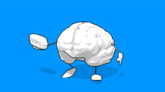 Brain - computer animation - stock footage