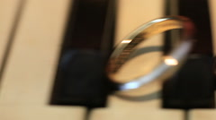 Macro shot of beautiful diamond wedding ring details Stock Footage