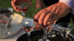 Cocktail being prepared Stock Footage