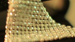 Diamond Jewels macro dolly shot Stock Footage