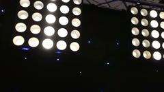 Panel of very bright stage lights. Stock Footage