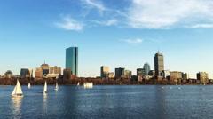 4K UltraHD View of Boston city center Stock Footage
