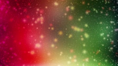Wedding Motion Loopable Background 012, Red Green Stars - stock footage