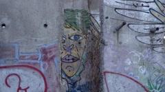 BERLIN WALL GRAFITI - stock footage