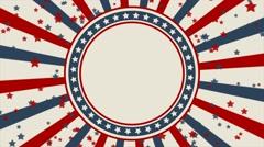 Vintage style American patriotic background Stock Footage