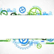 Abstract cogwheel technological background. - stock illustration