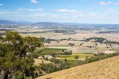 View over Yarra Glen Stock Photos