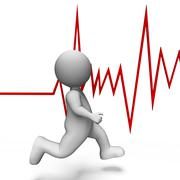 Health Heartbeat Shows Beating Well And Jog 3d Rendering Stock Illustration