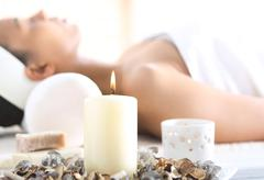 Aromatherapy, relaxation in the wellness clinic. - stock photo