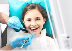 Healthy teeth and a beautiful smile Stock Photos