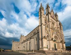 The Cathedral of Orvieto (Duomo di Orvieto), Umbria, Italy - stock photo