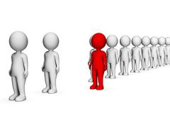 Different Characters Indicates Stand Out And Discrimination 3d Rendering Stock Illustration
