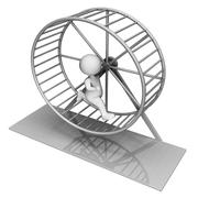 Hamster Wheel Indicates Worn Out And Active 3d Rendering Stock Illustration