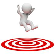 Success Target Indicates Aiming Man And Illustration 3d Rendering Stock Illustration