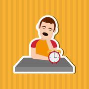 Resting and sleep design , vector illustration - stock illustration