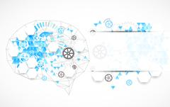 Abstract digital brain,technology concept. Stock Illustration