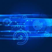 Abstract engineering future technology background - stock illustration