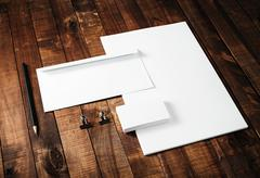 Blank identity template - stock photo