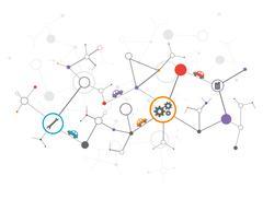 Car  technology communication background - stock illustration