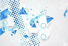 Abstract pattern dotted hexagons and triangle. Stock Illustration