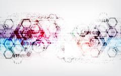 Abstract digital communication technology background. - stock illustration