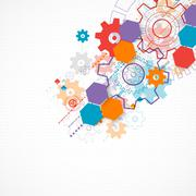 Abstract technological background with cogwheels. Stock Illustration