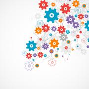 Abstract cogwheel background technology theme for your business. - stock illustration