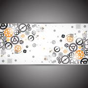 Abstract technology background. Cog wheel theme - stock illustration