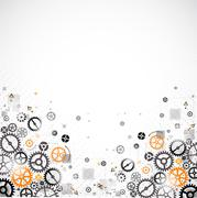 Abstract technology background. Cog wheel theme Stock Illustration