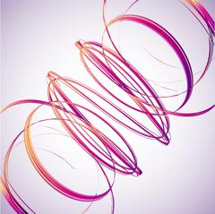 Abstract Pink Wave background. Vector - stock illustration