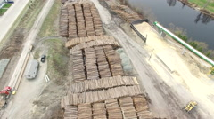 Logging Industry in Timmins Ontario - Forestry and Wood Production Stock Footage