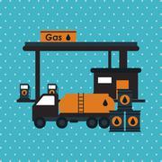 Oil Industry design Stock Illustration
