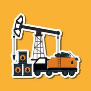 Oil Industry design, vector illustration Stock Illustration
