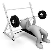 Weight Lifting Represents Physical Activity And Bodybuilding 3d Rendering - stock illustration