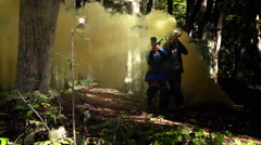 Paintball smoke grenade slow motion - stock footage