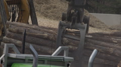 Machines in Logging Industry - Forestry and Wood Production Stock Footage
