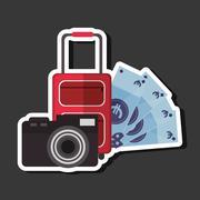 Vacation icon design Stock Illustration
