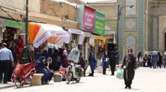 In iran shiraz the old historic bazaar Stock Footage